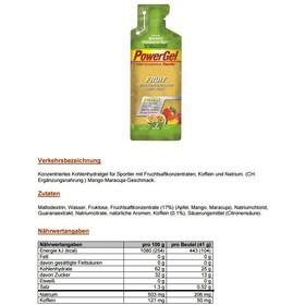 PowerBar New PowerGel Fruit Box 24x41g Mango Passionfruit mit Koffein